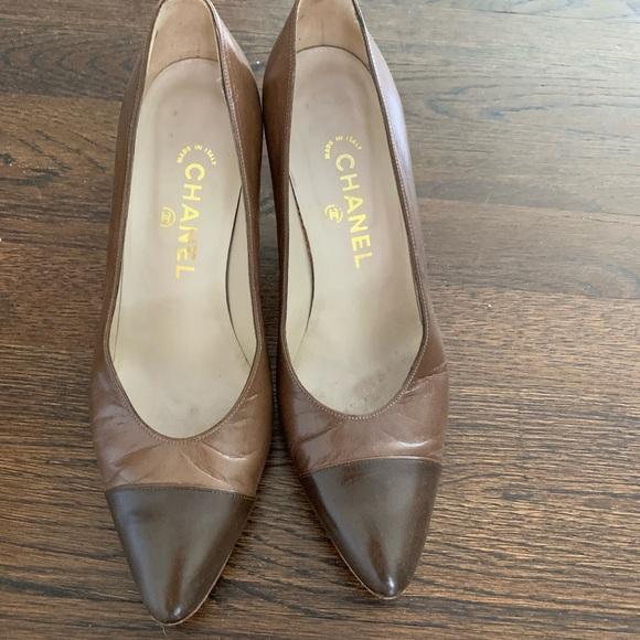 CHANEL Shoes - Chanel cap toe pumps